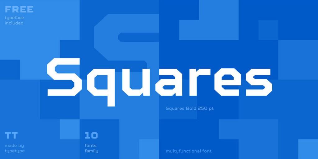 Font Squares Bold
