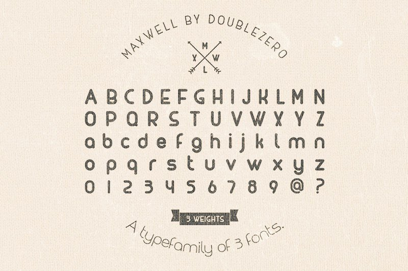 Font MAXWELL TYPEFACE