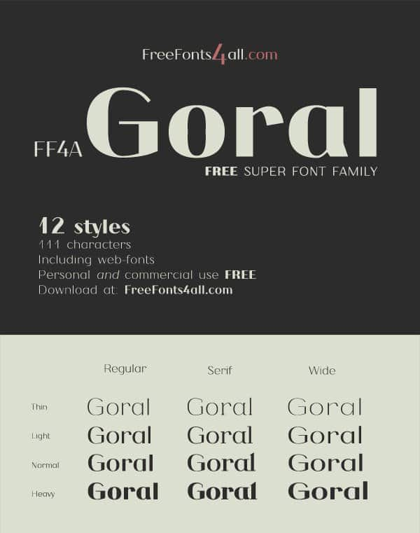 Шрифт FF4A Goral Packv1