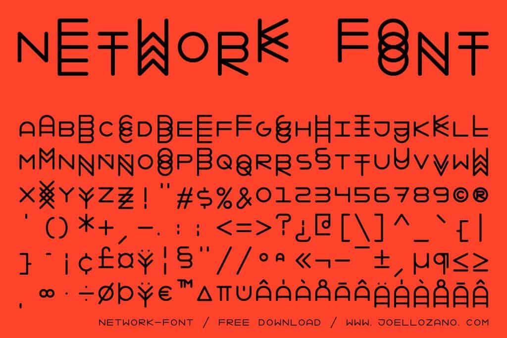 Font NETWORK FONT