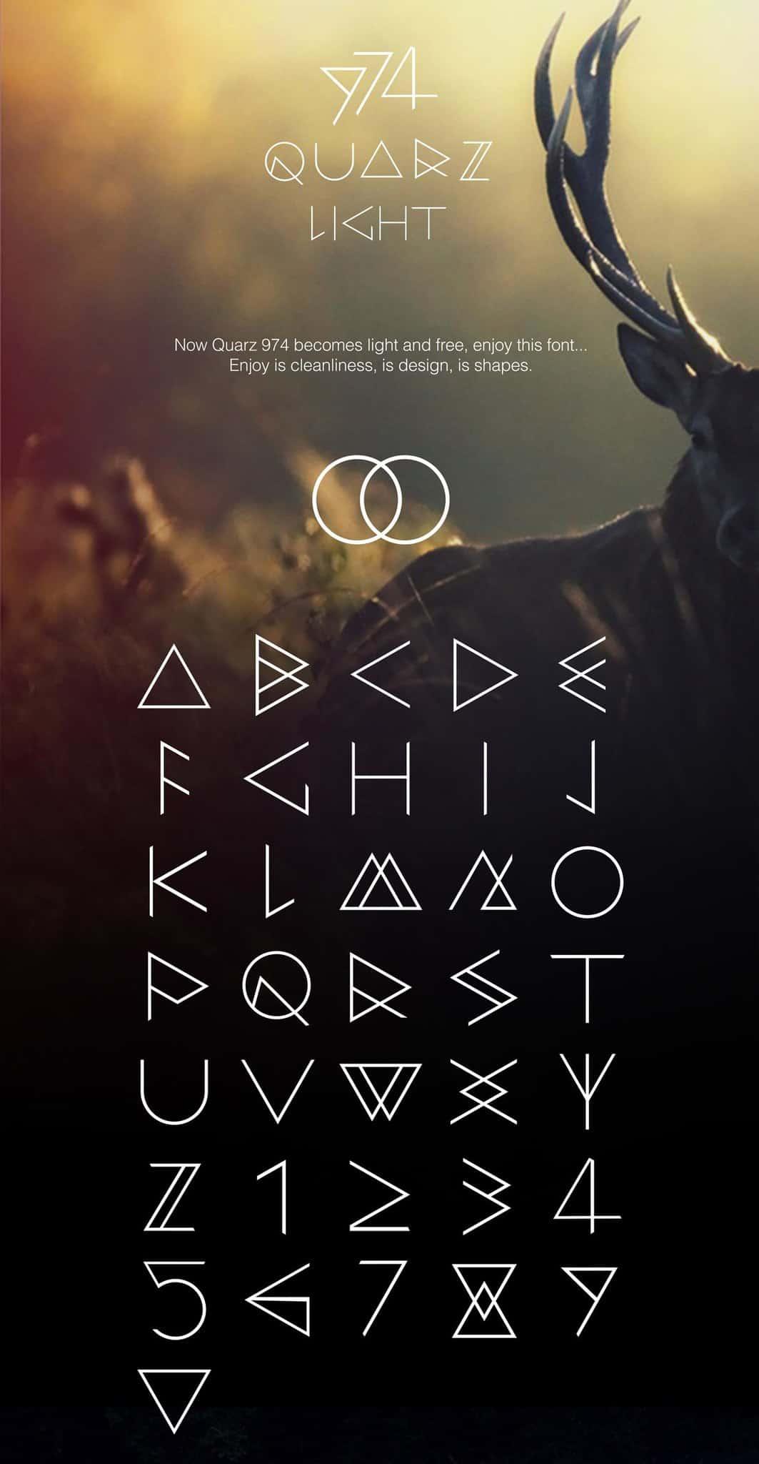 Download Quarz 974 Light font (typeface)
