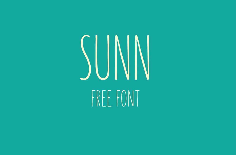 SUNN font free download Ⓐ AllBestFonts com