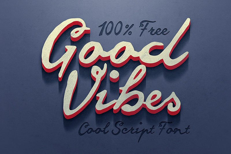 Download goodvibes font (typeface)