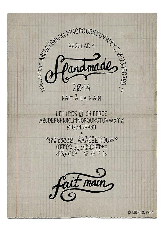Download Fait main 1.7z font (typeface)