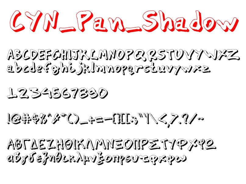 Download CYN Pan font (typeface)