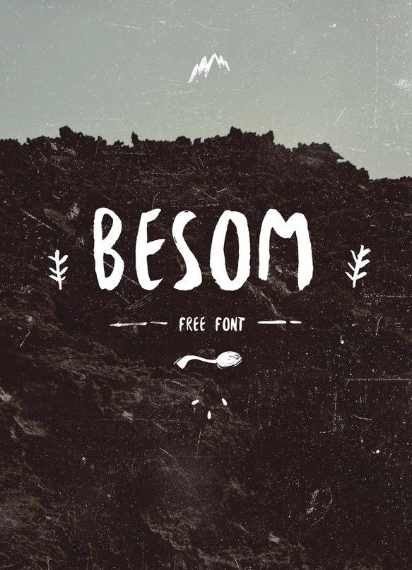 Download Besom-Font font (typeface)