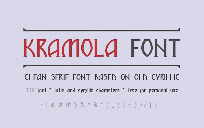 Download kramola font (typeface)