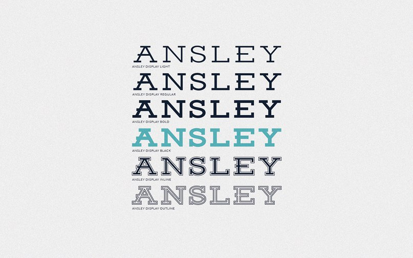 Download Ansley Display font (typeface)