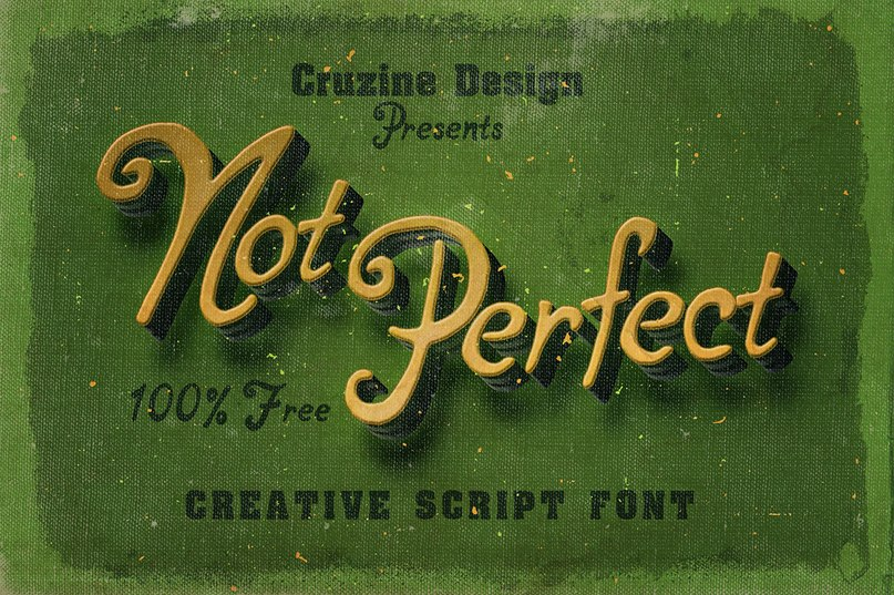 Download notperfect font (typeface)