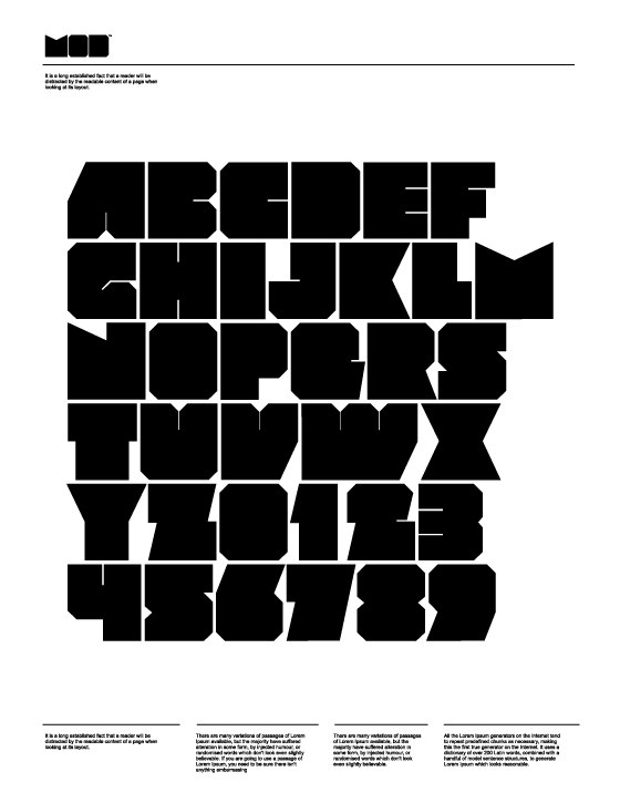 Download mod font (typeface)