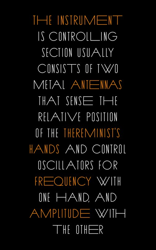 Download THEREMIN font (typeface)