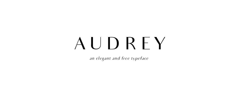 Download Audrey font (typeface)