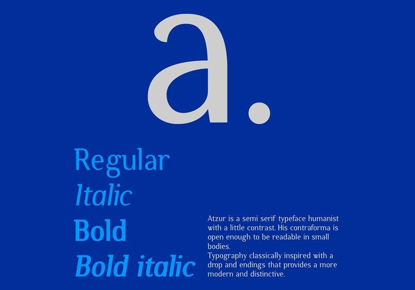 Download Atzur typefamily font (typeface)
