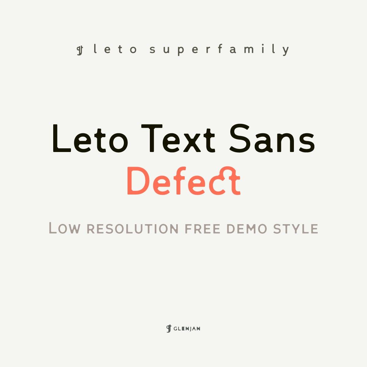 Font Leto Text Sana