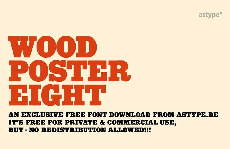 Download Wood Poster Eight font (typeface)