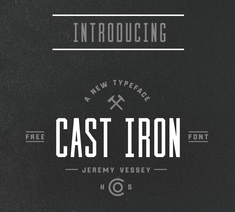 Download Cast Iron-Condensed font (typeface)