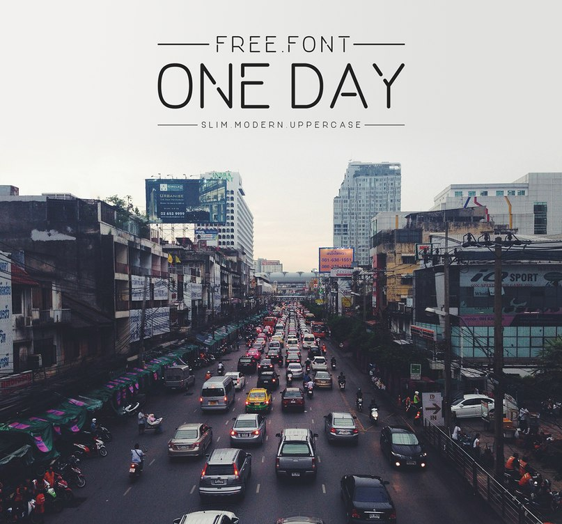 Download ONEDAY font (typeface)