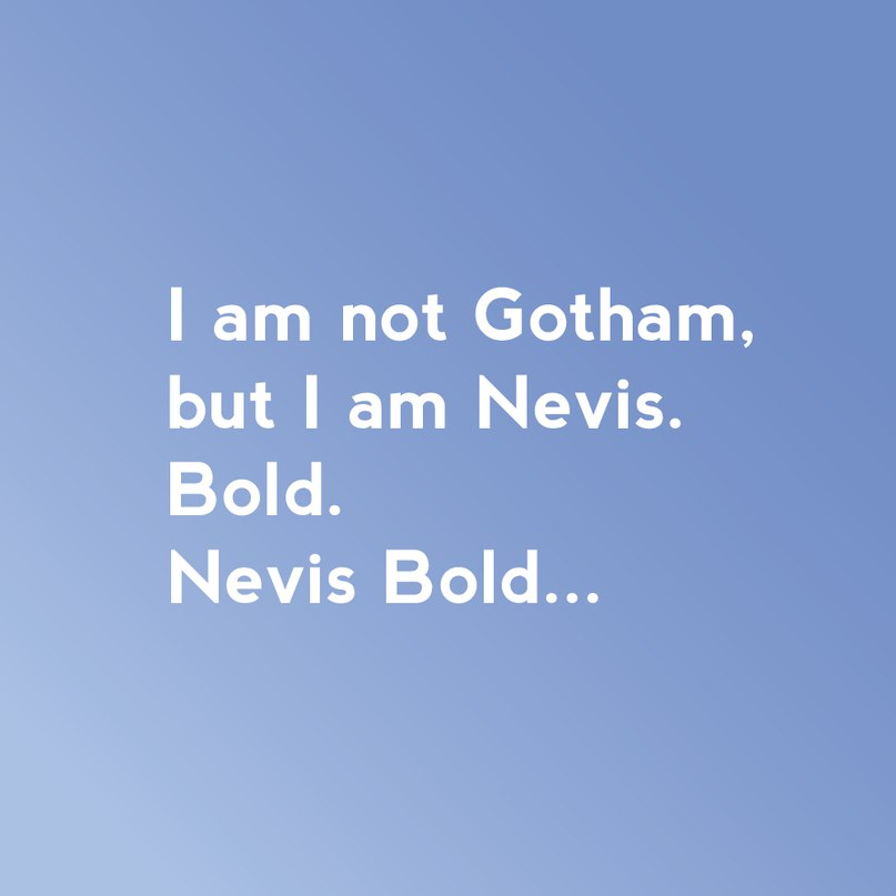 Download Nevis font (typeface)