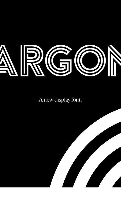 Download Argon font (typeface)