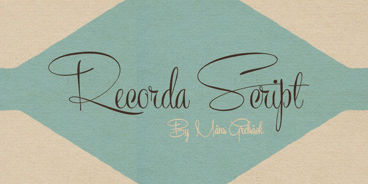 Download recorda script personal use onl font (typeface)