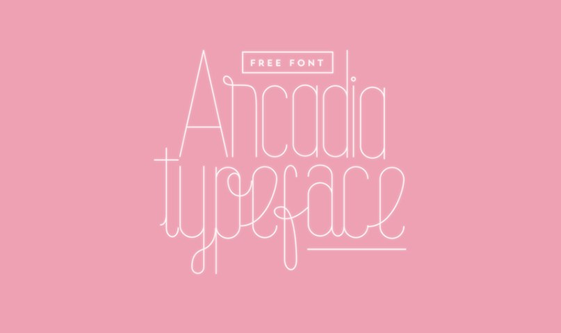 Download Arcadia Typeface [ai] font (typeface)