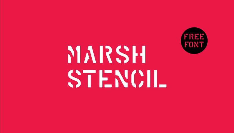 Download Marsh Stencil Regular font (typeface)