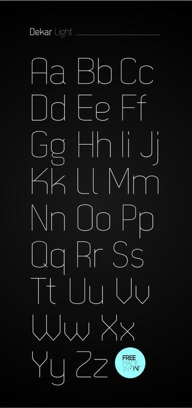 Download dekar font (typeface)