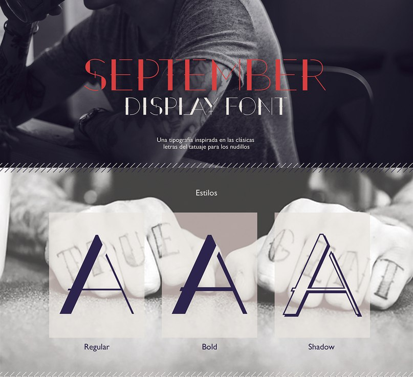 Download September Display font (typeface)