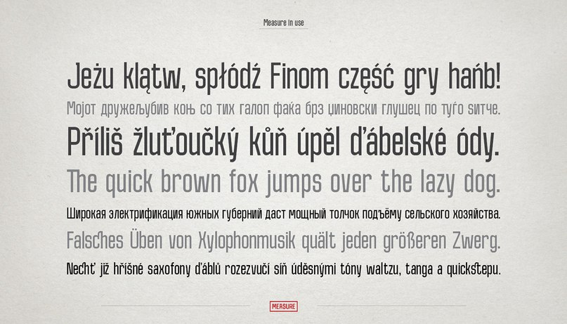 Download Measure font (typeface)