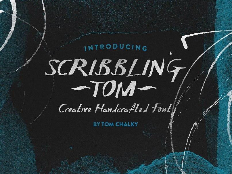 Download Scribbling-Tom font (typeface)