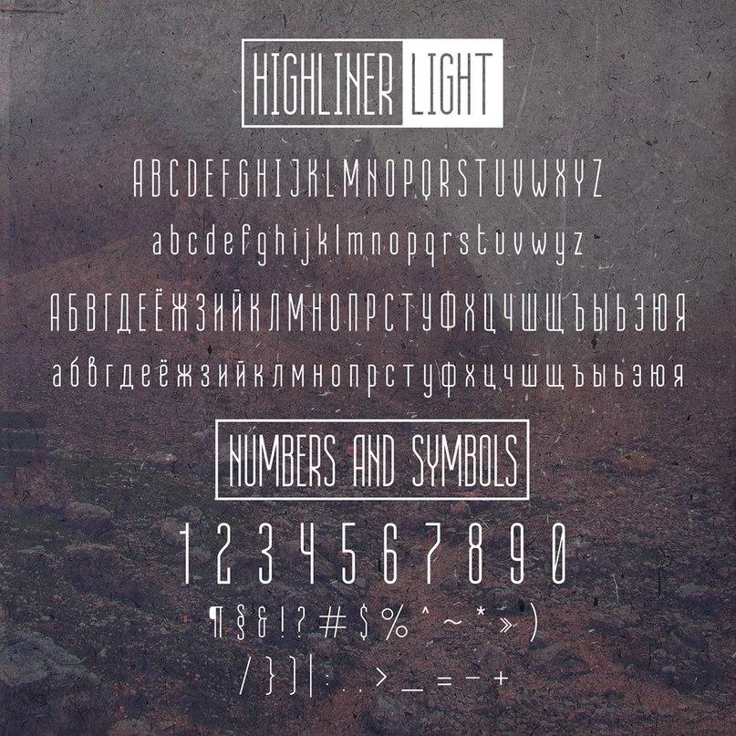 Download highliner font (typeface)