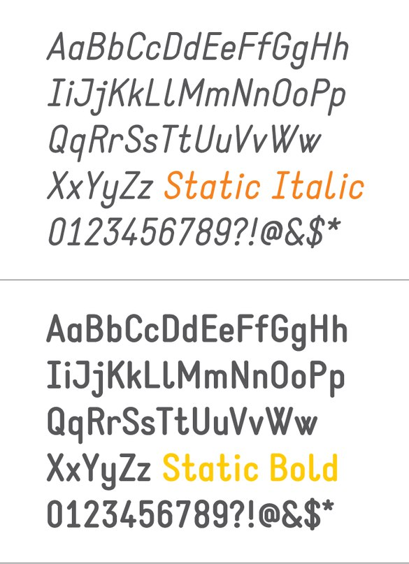 Download static font (typeface)