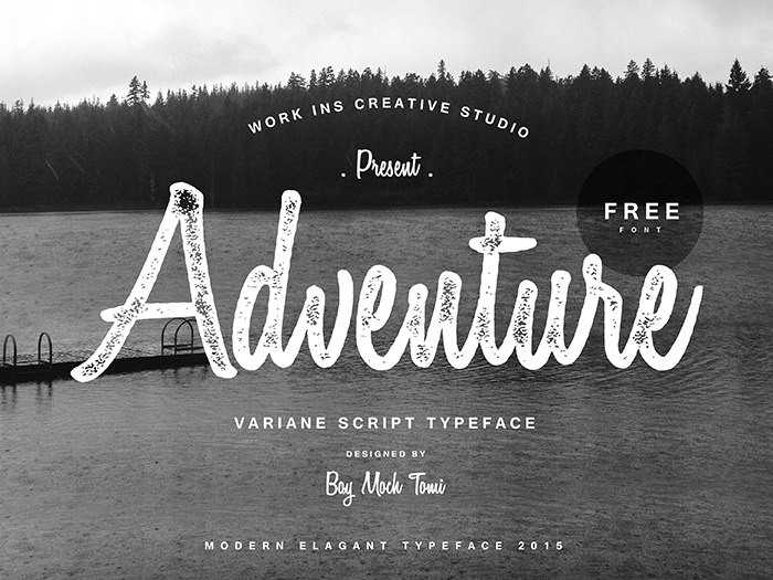 Download variane-script font (typeface)