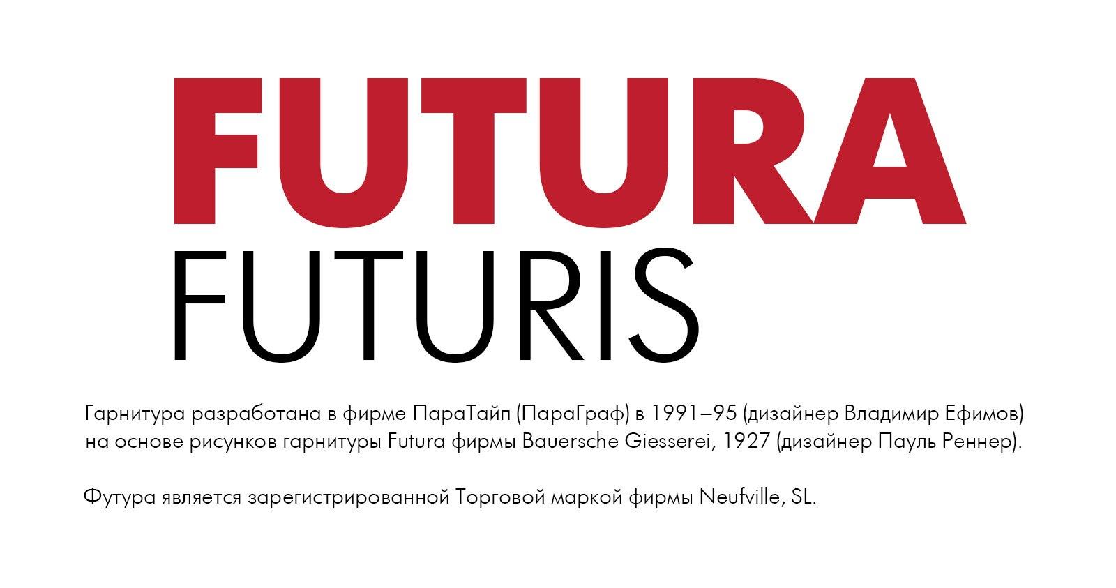 Font Futura Futuris