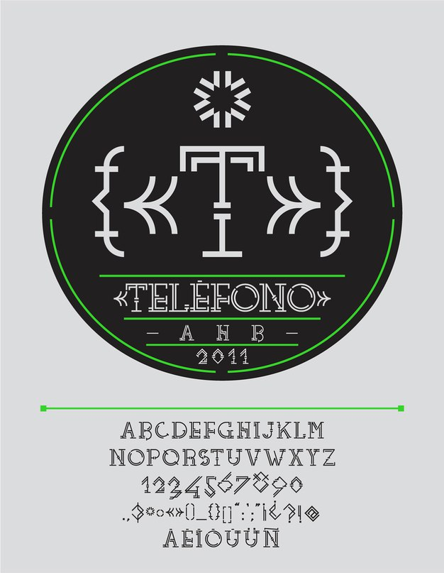Download telefono font (typeface)