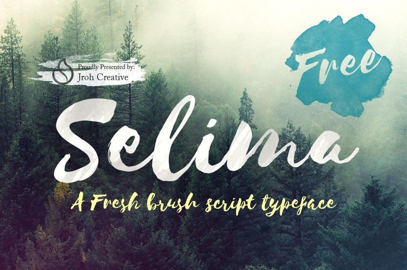 Download Selima-Free brush script font (typeface)