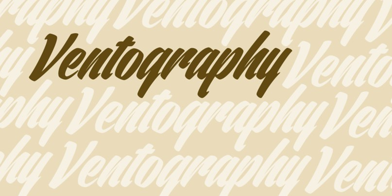 Download ventography font (typeface)