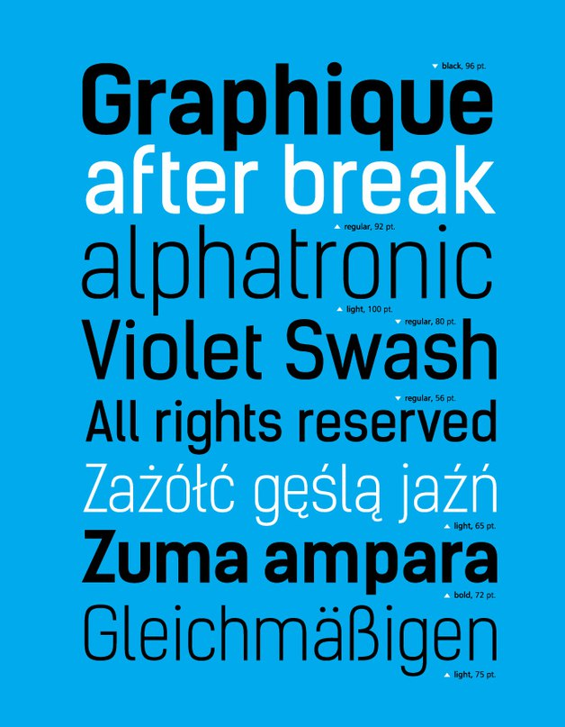 fonts poster