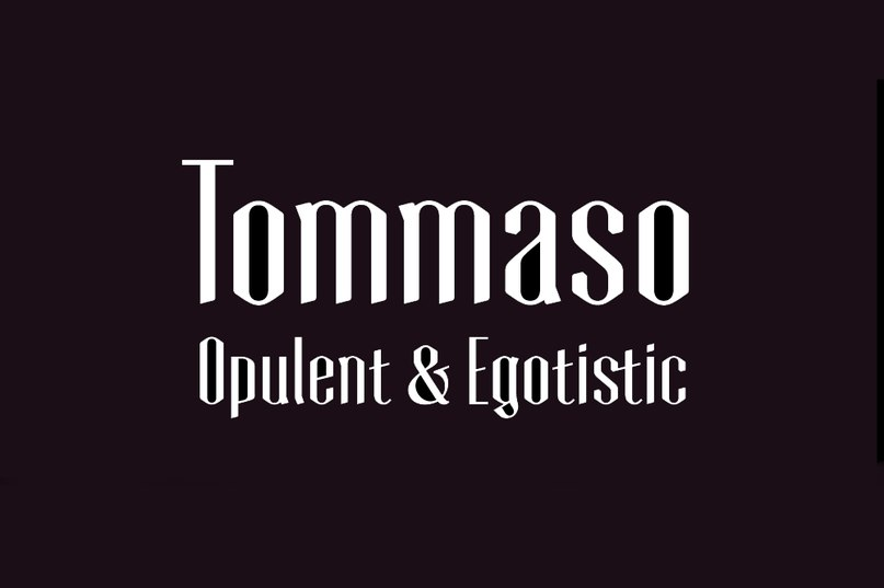 Download Tommaso Personal License font (typeface)