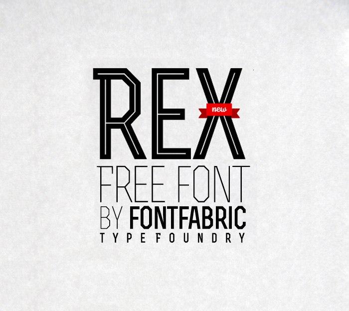 Download rex font (typeface)