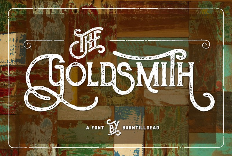 Download The Goldsmith vintage font (typeface)