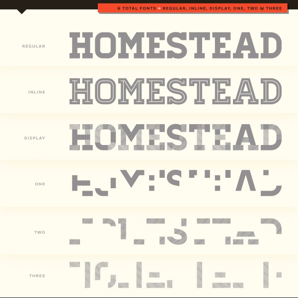 Download Homestead Personal License font (typeface)