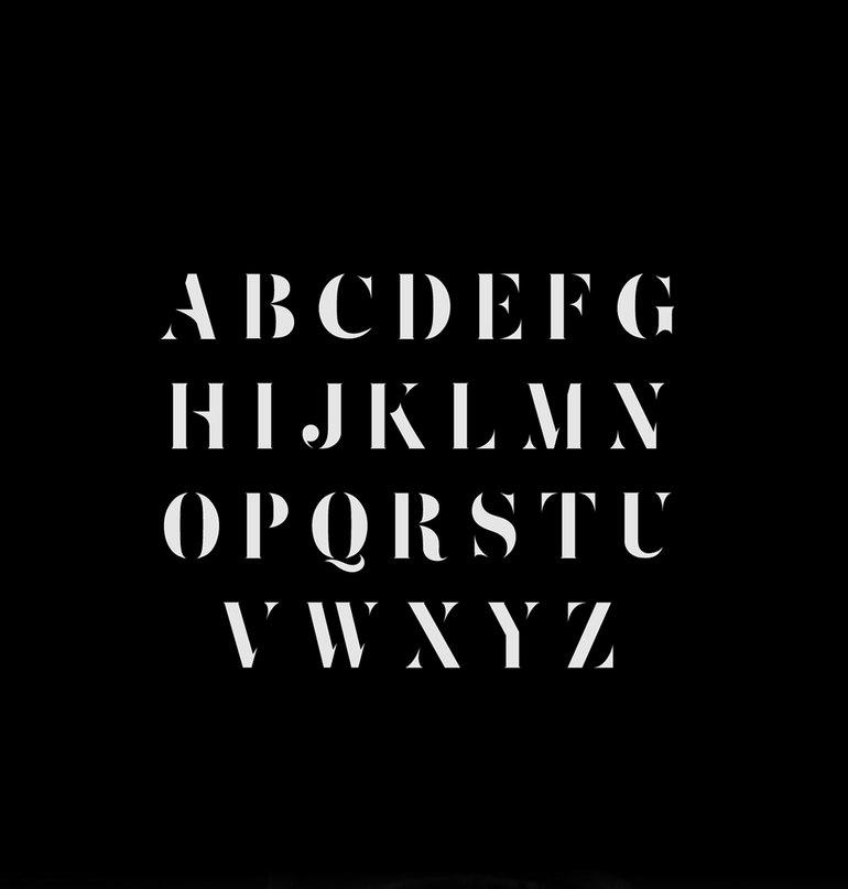 Download Zefani Stencil font (typeface)