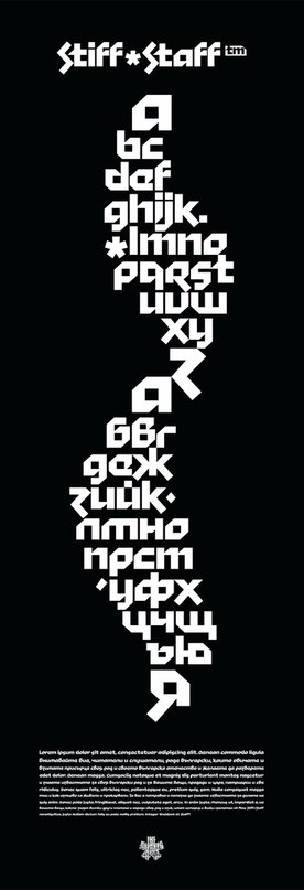 Download stiff staff font (typeface)
