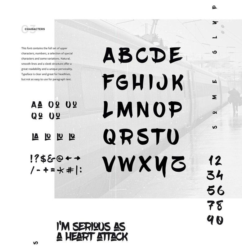 Download blowbrush font (typeface)