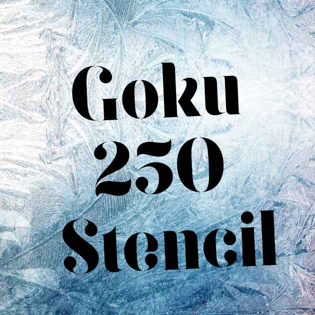 Download Goku 250 stencil font (typeface)