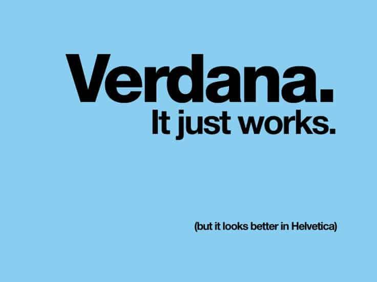 шрифт Verdana