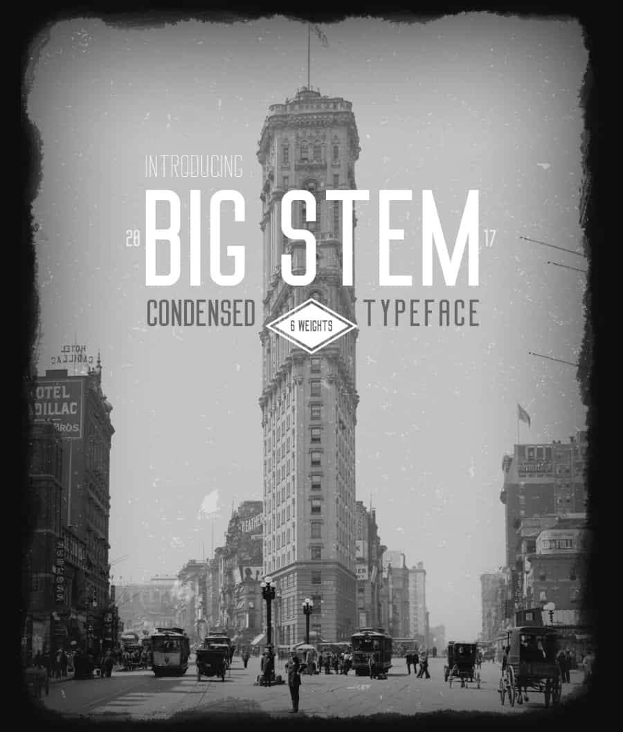 Download Big Stem Regular font (typeface)