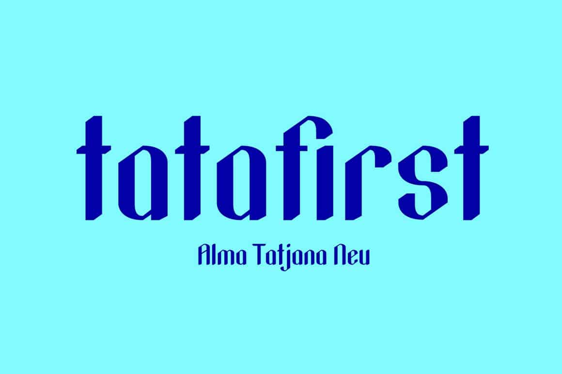 Download tatafirst-Regular font (typeface)