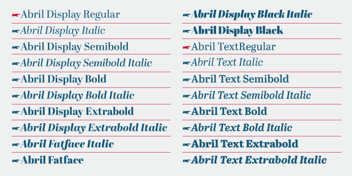 Download Abril font (typeface)